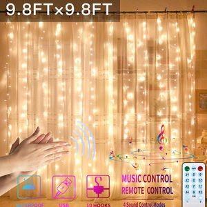 Curtain USB Powered Fairy Lights String Waterproof